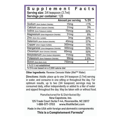 ReMyte - Solución mineral   Solución multimineral pico-iónica de la dra. Dean - 480 ml