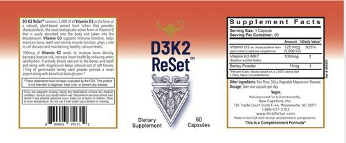 D3K2 ReSet - Vitamina D - Cápsulas