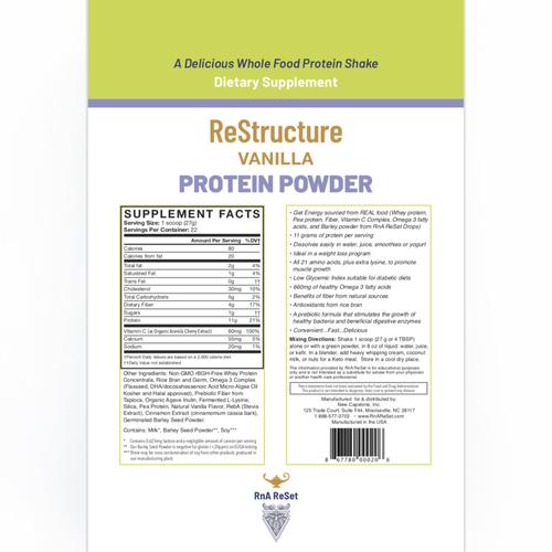 ReStructure - Proteína en polvo - Vainilla