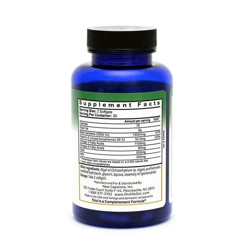Omega-3 Algae A+E - Ácidos grasos Omega 3 veganos a base de algas con vitamina A+E